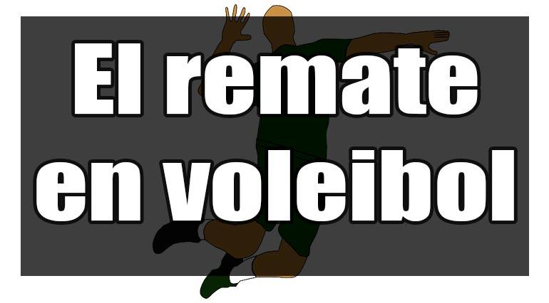 remate en voleibol